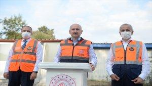 Bakan Karaismailoğlu, Kuzey Marmara Otoyolu'nda incelemelerde bulundu: