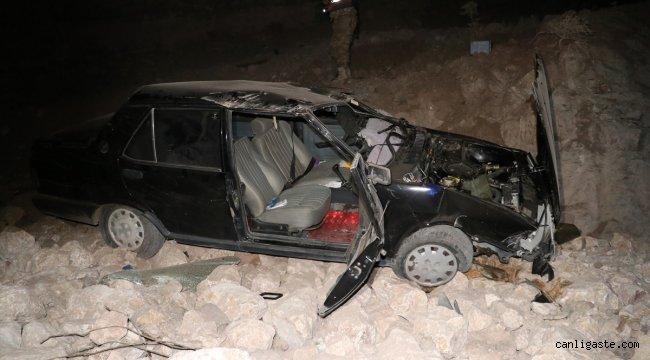 Elazığ'da otomobil şarampole devrildi: 2'si çocuk 5 yaralı