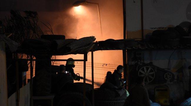 Muğla'da iş yerinde yangın