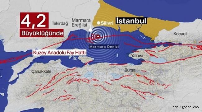 SON DAKİKA! Marmara Denizi'nde 4,2'lik deprem (İstanbul'da sallandı)