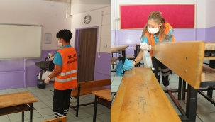 Talas Haberi: Talas Belediyesinden okullarda 'yüz yüze' eğitim öncesi temizlik
