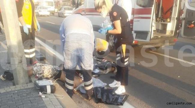 Kayseri'de devrilen motosikletteki 2 kişi öldü
