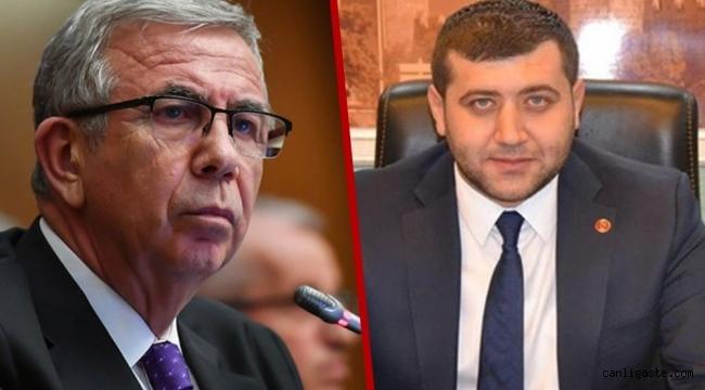 MHP'li Vekil Baki Ersoy'dan Ankara Büyükşehir Belediye Başkanı Mansur Yavaş'a: Ezer geçeriz, bunu da böyle bil!