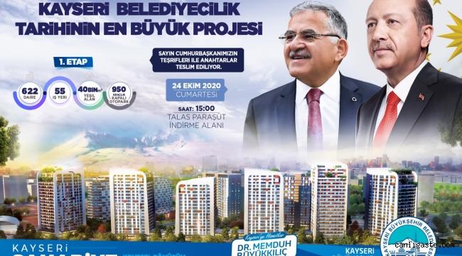 Sahabiye'de muhteşem dönüşüm! 622 Daire, 55 İşyeri Cumhurbaşkanı Erdoğan'ın katılımı ile hak sahiplerine teslim ediliyor