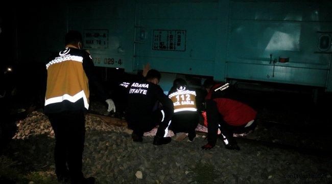 Adana'da treninin çarptığı kişi ağır yaralandı