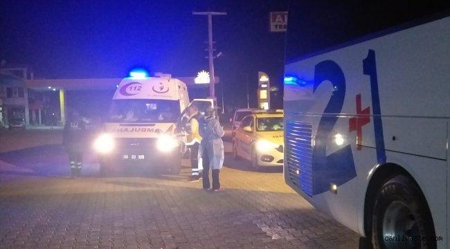 Aksaray'da karantina kurallarına uymayan otobüs şoförü sağlık ekiplerine teslim edildi