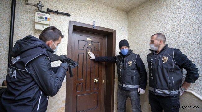 Ankara'da narkotik operasyonu: 308 zanlıdan 35'i tutuklandı