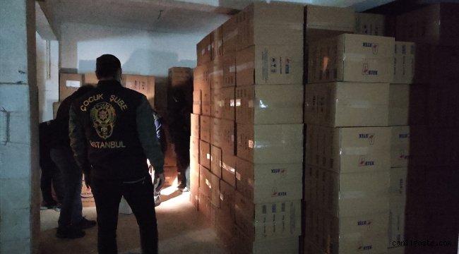 Ataşehir'de kaçak sigara operasyonu