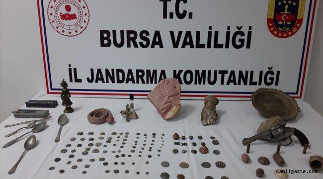 Bursa'da tarihi eser satmaya çalışan şüpheli suçüstü yakalandı