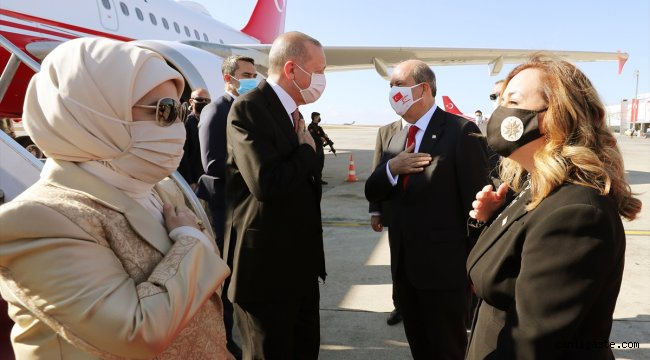 Cumhurbaşkanı Erdoğan KKTC'ye geldi