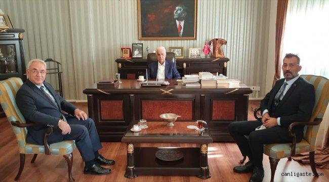 DSP Genel Başkanı Aksakal KKTC'de temaslarda bulundu