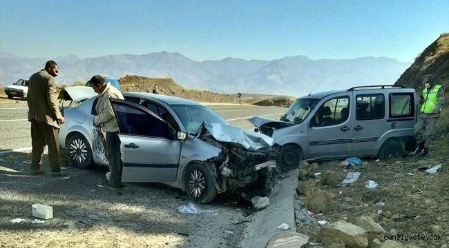 Elazığ'da trafik kazası: 1 ölü, 7 yaralı