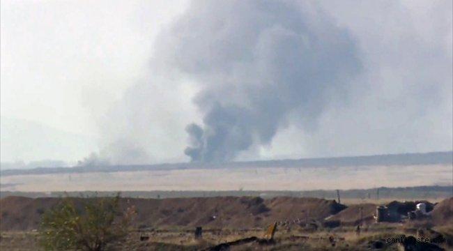 Ermenistan, çekildiği Ağdam'da karakol, bina ve kontrol noktalarını ateşe verdi