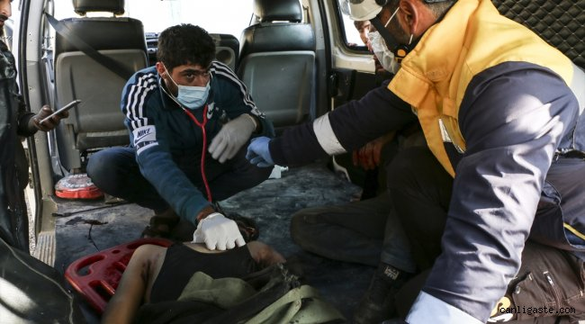 Esed rejiminin İdlib'e saldırısında 1 sivil öldü