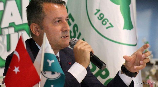 """Giresunspor Kulübü Başkanı Hakan Karaahmet: """"Kulübün önünü açmak istiyoruz"""""""