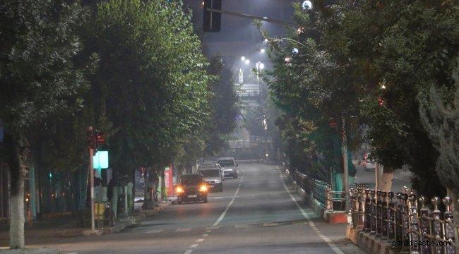 Güneydoğu'da Kovid-19 tedbirleri kapsamında sokağa çıkma kısıtlaması başladı