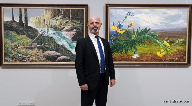 """Haydar Şişman'ın """"Doğa ve İnsan"""" konulu retrospektif sergisi açıldı"""
