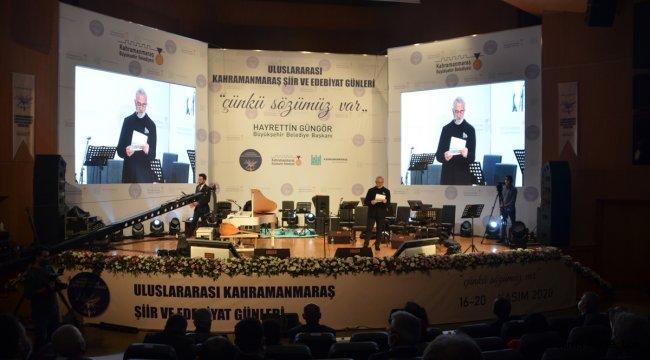 """Kahramanmaraş'ta """"1. Uluslararası Şiir ve Edebiyat Günleri"""" sona erdi"""