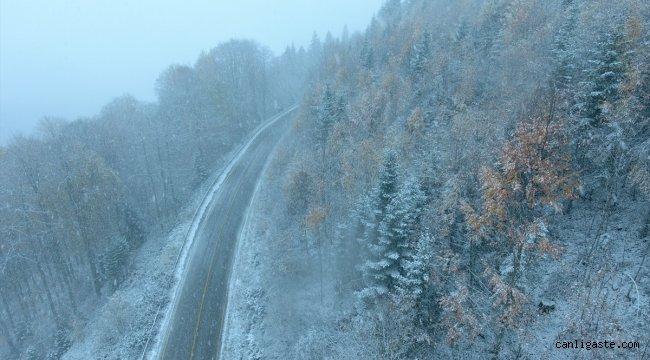 Kastamonu'ya mevsimin ilk karı düştü
