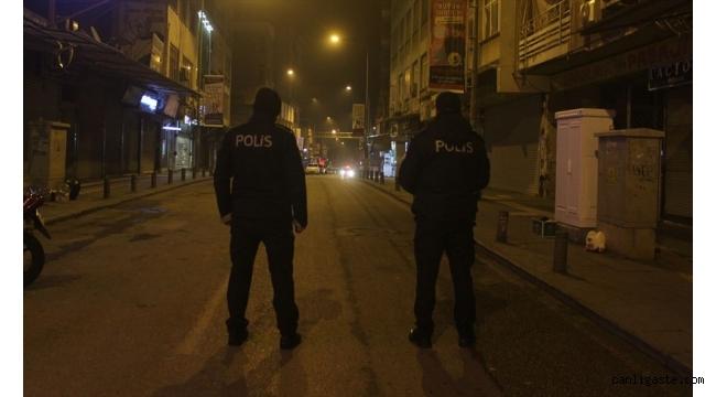 Kayseri'de sokağa çıkma yasağına uyuldu cadde ve sokaklar boş kaldı