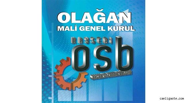 Kayseri OSB Mali Genel Kurulu Ertelendi