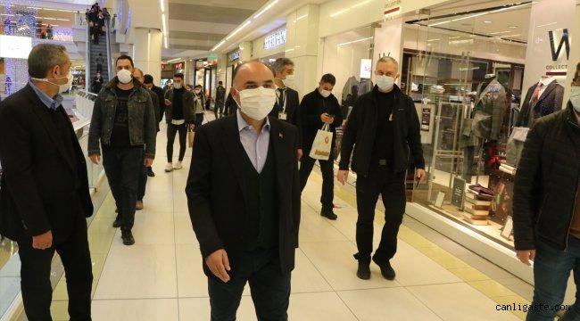 Kayseri Valisi Günaydın'dan alışveriş merkezinde Kovid-19 tedbiri denetimi