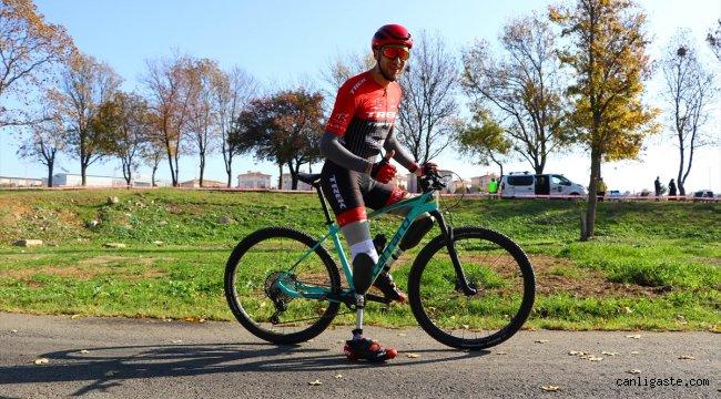 Kazada iki ayağını kaybeden bisikletçinin hedefi milli takım
