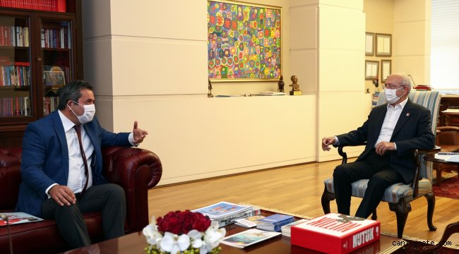 Kılıçdaroğlu, KESK ve Birleşik Kamu-İş heyetlerini kabul etti: