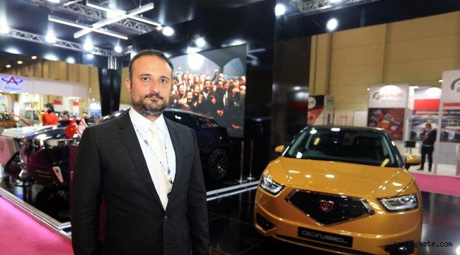 """KKTC'nin yerli otomobili """"Günsel"""" MÜSİAD EXPO'da anavatanıyla buluştu"""