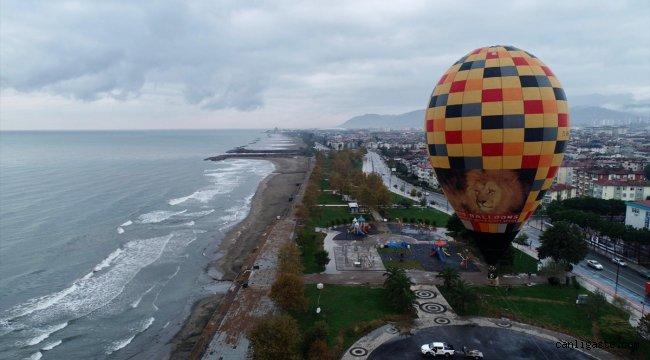 Ordu turizmi için sıcak hava balonu testi yapıldı