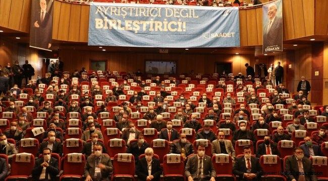 Saadet Partisi Kayseri İl Kongresi yapıldı! Mevcut başkan Baki Coşkun güven tazeledi