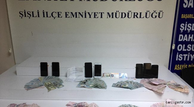 Sahte dolarla dolandırıcılık yapan 3 şüpheli tutuklandı