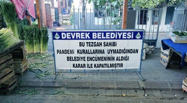 Kovid-19 tedbirlerine uymayan 2 pazarcıya 'tezgah açmama' cezası