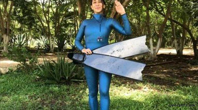 Serbest dalışçı Fatma Uruk, Meksika'da dünya rekoru denemeleri yapacak
