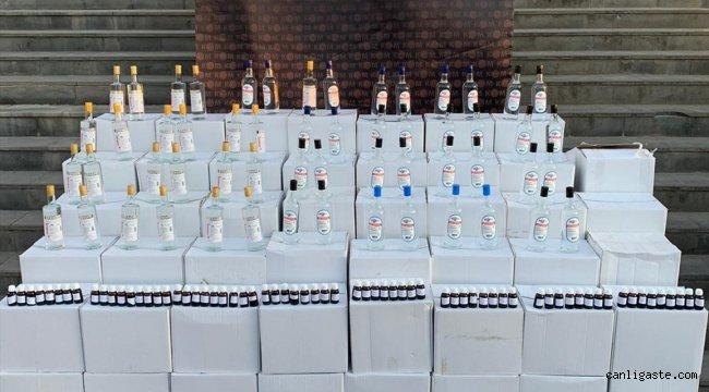 Sivas'ta 1620 litre etil alkol ele geçirildi