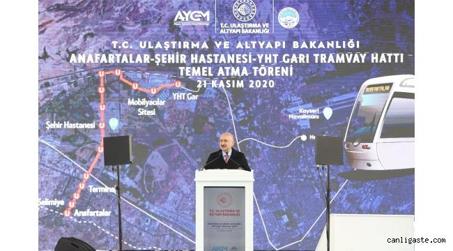 """Ulaştırma ve Altyapı Bakanı Karaismailoğlu, """"Kayseri'yi hızlı demir yolu ile tanıştıracağız"""""""