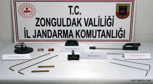 Zonguldak'ta kaçak kazı yapan 3 kişi yakalandı