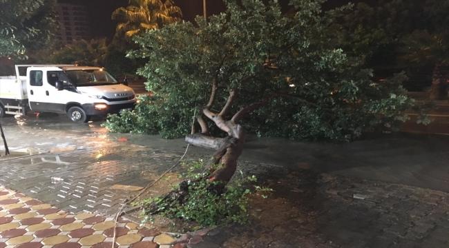 Adana'da sağanak ve kuvvetli rüzgar hayatı olumsuz etkiledi