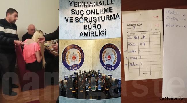 Ankara'da pavyona çevrilen eve baskın! 8 kişiye 28 Bin 200 lira ceza kesildi.