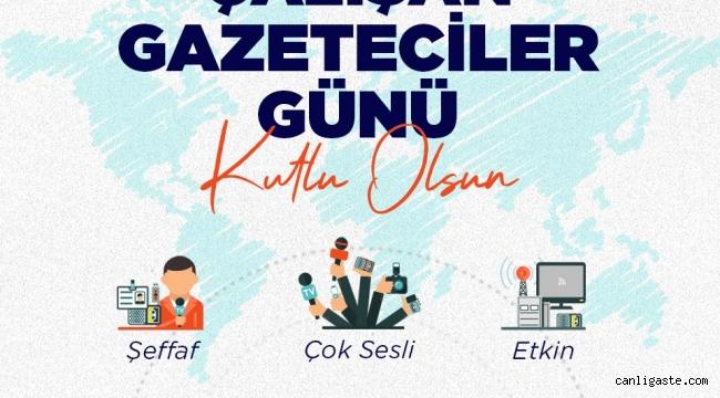 Başkan Palancıoğlu 10 Ocak Çalışan Gazeteciler Günü'nü kutladı