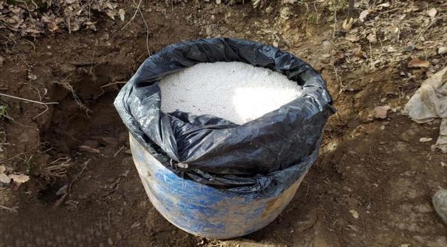 Bitlis'te 100 kilogram amonyum nitrat imha edildi
