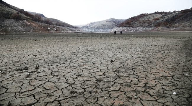 Çubuk-2 Barajı'nda su seviyesi azaldı