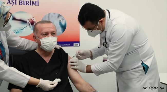 Cumhurbaşkanı Erdoğan'dan aşı sonrası açıklama