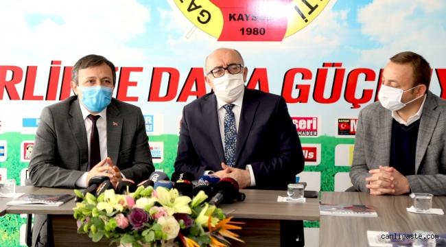 ERÜ Rektörü Çalış, Kayseri Gazeteciler Cemiyeti'ni Ziyaret Etti