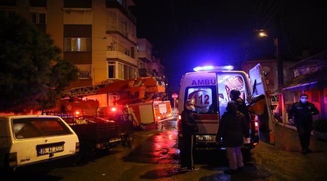 İzmir'de evde çıkan yangında anne ve bebeği yaralandı