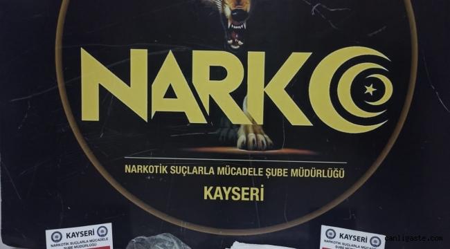 Kayseri'de havya makinesine gizlenmiş uyuşturucu bulundu