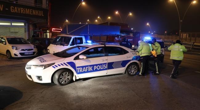 """Kayseri'de polisin """"dur"""" ihtarına uymayan alkollü sürücü kovalamaca sonucu yakalandı"""