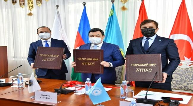 Kazakistan'da Türk dünyasının tarihi ve kültürel atlası tanıtıldı
