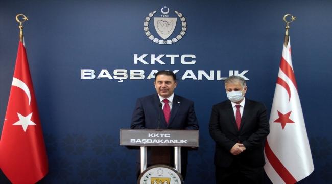 """KKTC Başbakanı Saner: """"Nüfusun yüzde 80'inin aşılanmasını hedefliyoruz"""""""