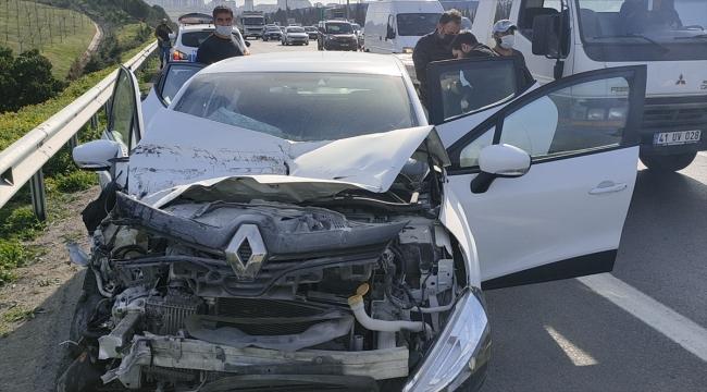 Kocaeli'de zincirleme trafik kazası ulaşımı aksattı
